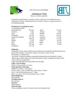 Aminogrow Oral uputstvo