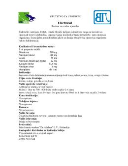 Electrosol Oral uputstvo