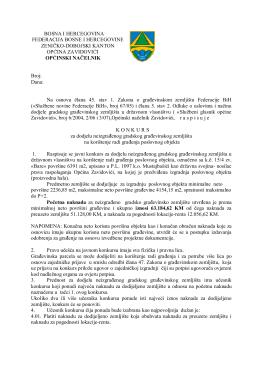 konkurs - Općina Zavidovići