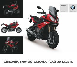 Preuzmite Aktuelni cenovnik BMW motocikala iz ponude. - BMW-a