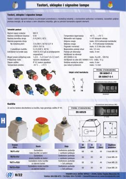 H/22 Tasteri, sklopke i signalne lampe