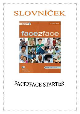Face2Face: Starter, slovníček