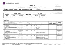 izvod: 16 stanje i promjene sredstava na dan 08.04.2011 godine