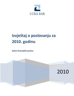 Godišnji izvještaj o poslovanju