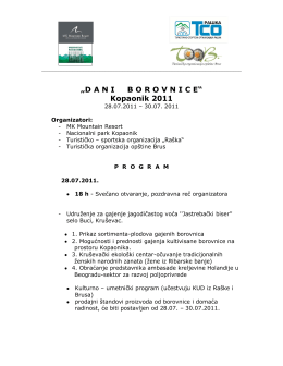 Dani Borovnice Kopaonik - PROGRAM 2011.pdf