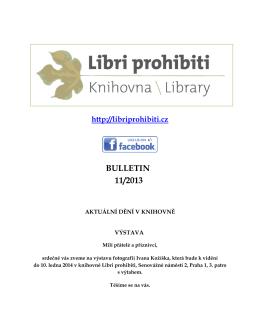 Bulletin 2013/11 - Libri prohibiti