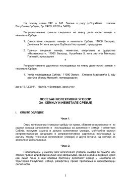 Poseban kolektivni ugovor za hemiju i nemetale