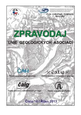 říjen 2013 - Česká asociace ložiskových geologů