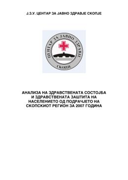 analiza na zdravstvenata sostojba i zdravstvenata za[tita na
