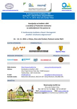 Asocijacija za kvalitet u BiH u saradnji sa Poslovnim novinama sa