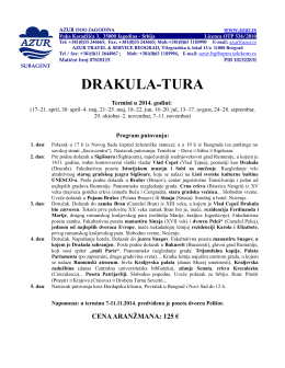 DRAKULA-TURA - Azur Travel Agency