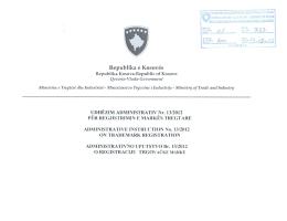 Shkarko - Ministria e Tregtisë dhe Industrisë