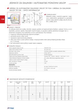 jedinice za daljnski i automatski ponovni uklop