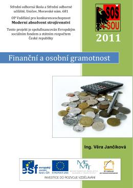 Finanční a osobní gramotnost - A Kluby České republiky o.p.s.