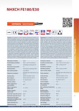NHXCH FE180/E30 - Elektrometal Plus