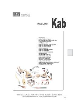 Kablovi - M&G Electronic