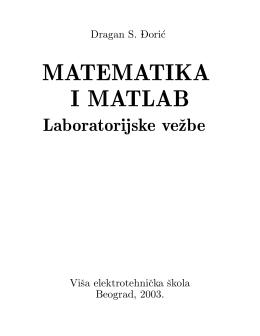 MATEMATIKA I MATLAB