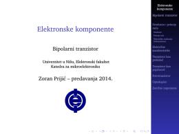 Elektronske komponente - Katedra za mikroelektroniku