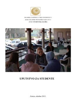 uputstvo za studente - Univerzitet u Zenici