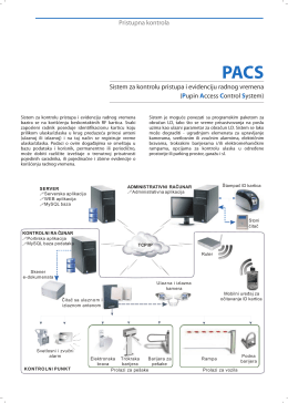 PACS (Pupin Access Control System)