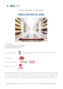 BIZLife REGIONAL CONFERENCE FMCG SECTOR BY 2020