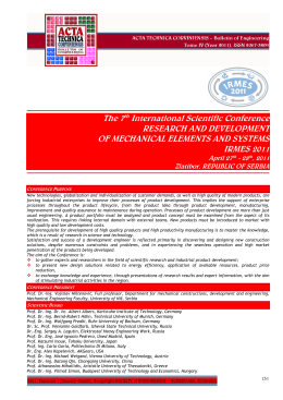 The 7th International Scientific Conference RESEARCH AND
