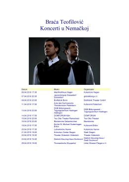 Koncerti u Nemackoj