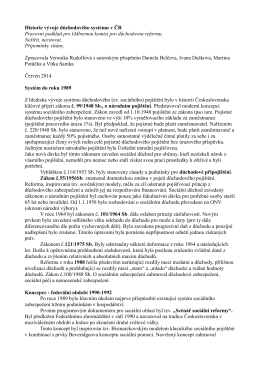 Historie vývoje důchodového systému v ČR