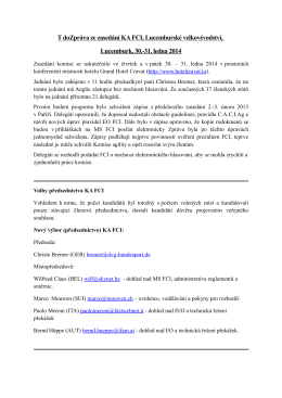 T doZpráva ze zasedání KA FCI, Lucemburské