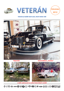 a další zajímavosti ze světa historických vozidel