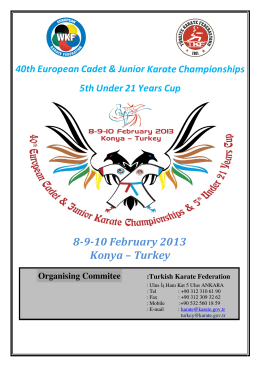 8-9-10 February 2013 Konya – Turkey
