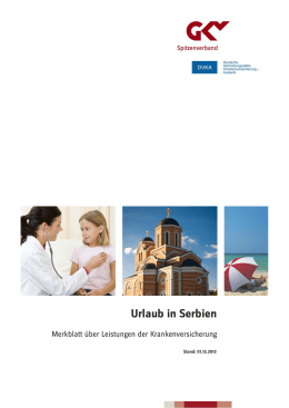 Urlaub in Serbien