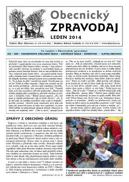 leden 2014 - Svoboda Bohouš