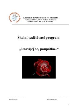 ke stažení (PDF) - Katolická mateřská škola sv. Klimenta