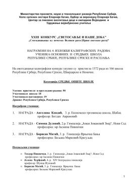Категорија Средње школе - удружење војвођанских учитеља