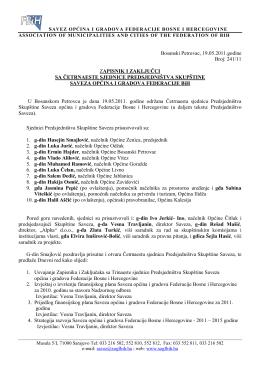 14. Sjednica - Savez općina i gradova Federacije BiH