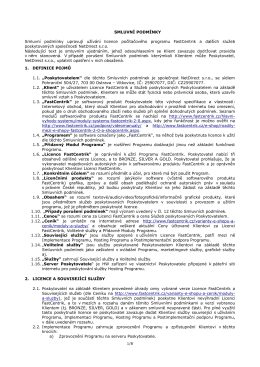 Smluvní podmínky FastCentrik platné od 10. 9. 2012 (PDF)