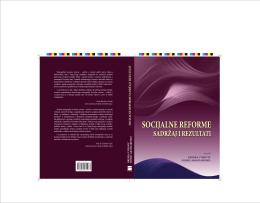 socijalne reforme - Hrvatska znanstvena bibliografija