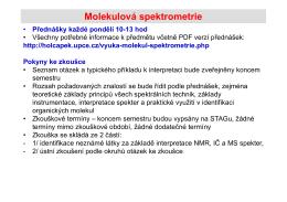 Úvod do molekulové spektrometrie, UV