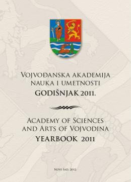 Vojvođanska akademija nauka i umetnosti GODIŠNJAK 2011