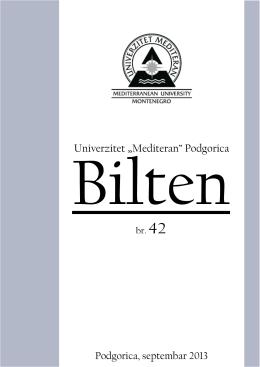 br.42 - Univerzitet Mediteran