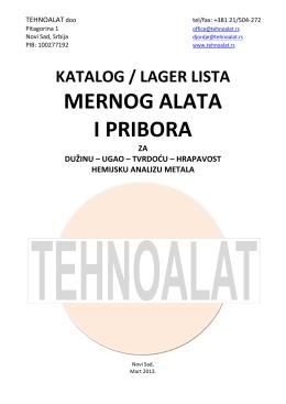 MERNOG ALATA I PRIBORA