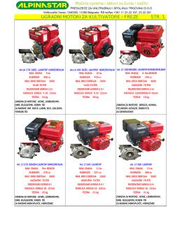 ALPINASTAR - Ugradni motori