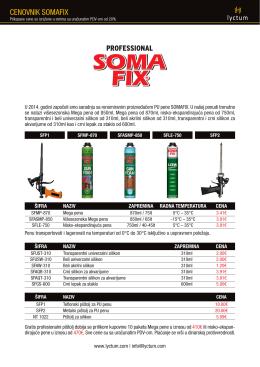Cenovnik SOMAFIX u .pdf formatu