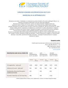 evropski kongres koloproktologa escp 2014