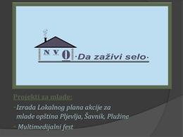 NVO Da zazivi selo Bojana Bojovic