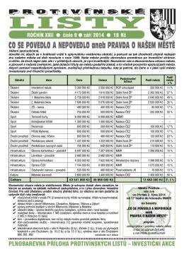 Protivínské listy 09/2014 (PDF, cca 3,5 MB)