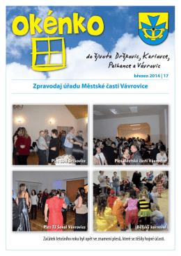 Zpravodaj OKÉNKO č.17 (Únor 2014) (PDF: 507.93 kB)