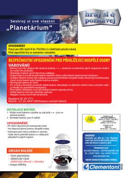 PLANETÁRIUM - návod k minisadě (pdf 2,23 MB)
