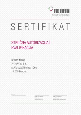 Urkunde Folder SRB Goran Misic.indd